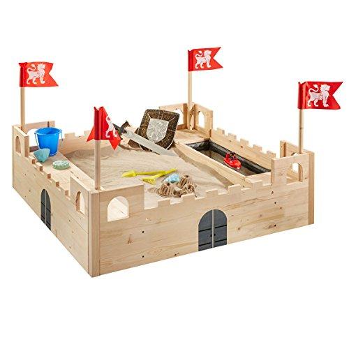 SUN-International Sandkasten Ritterburg aus Holz mit Wasserspiel