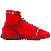 Valentino Garavani Mujer PW2S0F82PBH0RO Rojo Poliamida Zapatillas Slip-on