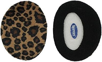 Kenmont Unisex Lady de esquí para mujer exterior Leopard 100% poliéster orejeras orejeras oído bolsas