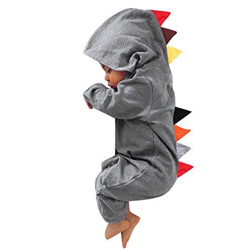 BeautyTop Unisex Strampler Baby Mädchen Jungen Overalls Warm Strampelanzug Baumwolle Kinderkleidung Kleidungsset für Winter Herbst 0-12 Monate (Wolf Herren Strampelanzug)