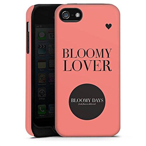 Apple iPhone 4 Housse Étui Silicone Coque Protection Fleurs amour Phrases Cercle Cas Tough terne