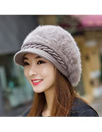 Keoa Sombrero De Invierno para Mujer Orejeras Calientes Sombrero De Piel De  Conejo De Imitación Grueso Sombrero De Felpa Otoño E Invierno… 90c9938f0627
