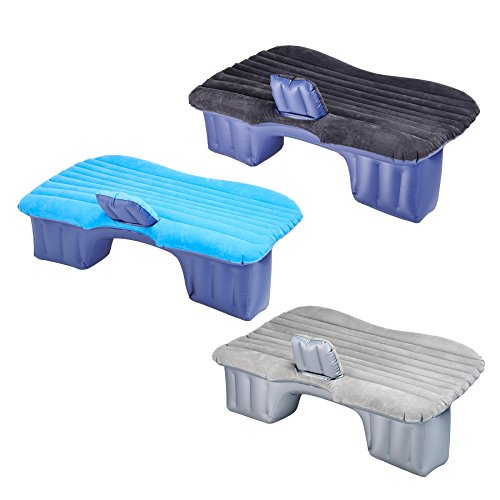 Pinty Auto Air Bed aufblasbares Bett Rücksitz Luftmatratze aufblasbar Matratze Luft Matraze Luftbett Car Bed Mattress mit 2 Kissen und Pumpe für Reisen Camping Rest Sofa SUV Universal