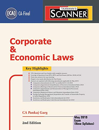 Scanner-Corporate & Economic Laws (CA-Final)(May 2019 Exam-New Syllabus)