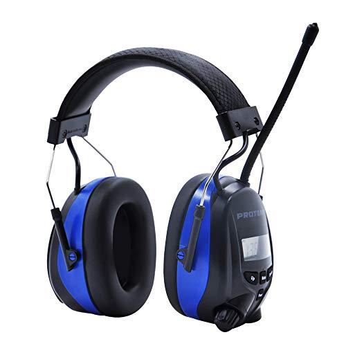 Bluetooth & Radio Gehörschutz, kompatibel mit Mobiltelefon / MP3, Protear-Gehörschutz für Werkstatt, Garten/Mähen, CE-Zertifiziert SNR 30dB