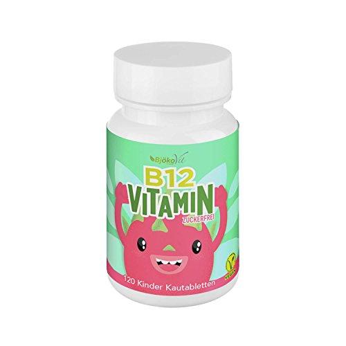 BjökoVit Vitamin B12 vegan - Kinder Kautabletten - 4 -Monatspackung - 120 Kautabletten