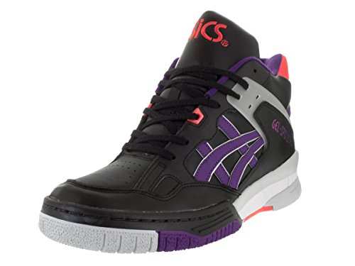 Asics Gel Spotlyte Hommes Cuir Baskets Black-Purple
