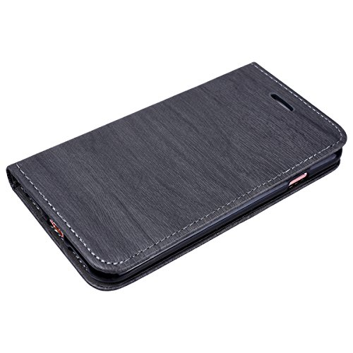 Cover iPhone 7 Plus, GrandEver Cover in Pelle Elegante Portafoglio Flip Custodia Slot Holder per Carta di Credito Cover Case per iPhone 8 Plus - Grigio Grigio