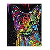 Alcoa Prime Frameless Digital Paint By Number Kit Cat Oil Painting Canvas Wall Artwork