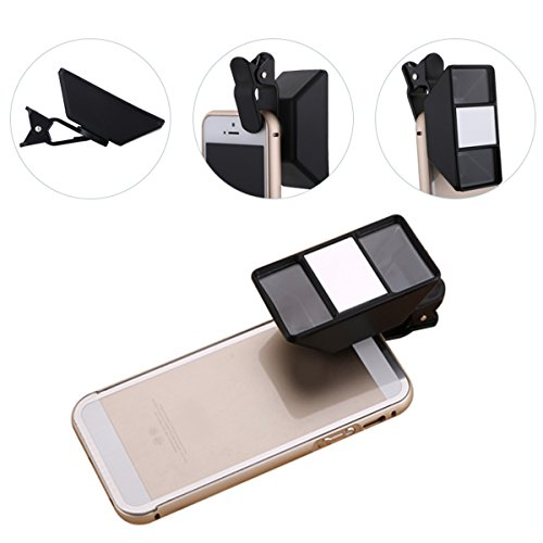 SOONHUA Universal 3D Mini-Fotografie 3D Stereoscopic Kamera-Objektiv Clip für Smartphone (schwarz 3)
