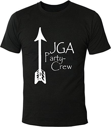 Mister Merchandise Herren Men T-Shirt JGA - Party Crew Junggesellenabschied Tee Shirt bedruckt Schwarz