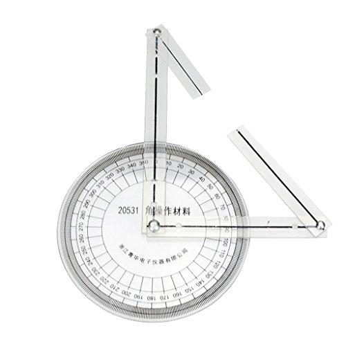 Homyl 1 Stück 360 Grad Winkelmesser medizinisch Goniometer Durchmesser des Winkelmessers: ca. 10cm / 3.93 Zoll