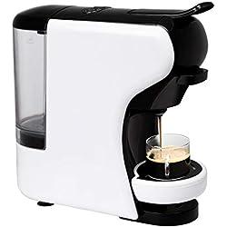 IKOHS Machine à café Expresso Italien - Cafetière Multi-dosettes Nespresso 3 en 1 Life, 1450 W, 19 Bars, Réservoir 0,7 L, Machine à Café Nespresso, Automatique, Qualité Professionnelle Blanc