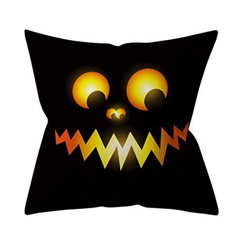 HEVÜY Halloween Pumpkin Kissenbezug 45 x 46 cm, Kissenbezüge Kissenbezug Kissen Couchkissen Case Sofakissen Blumenkissen Kissenbezüge Wohnkultur hülle