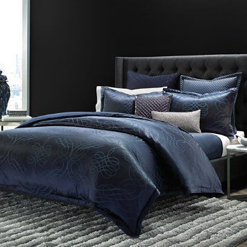 Hudson Park Collection Luxe Flourish Full/Queen Tröster, blau - Luxe Baumwolle Collection
