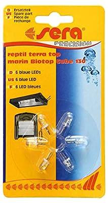 Sera 31137 Blaue LEDs (6 Stück) marin Biotop Cube 130 reptil Terra top