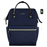 KROSER Laptop Backpack 17 Inch Stylish College Computer Backpack Fits Up to 16 Inch Laptop Casual Daypack Laptop Bag Water Repellent Business Bag with USB Port for Travel/Business/College-Dark Blue