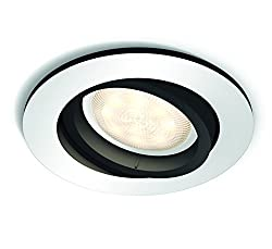 Philips 5041148P8, Hue LED Einbauspot Milliskin Rund, 250 lm, 5.5 W, GU10, 9 x 9 x 10 cm