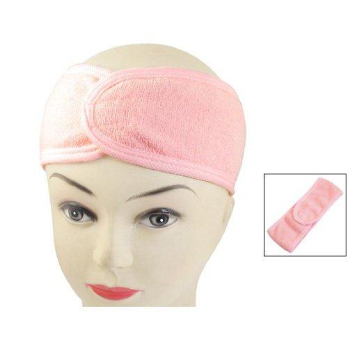 Bandeau Serre Tête Cheveux Coton Rose Pour Soin Visage Maquillage Masque