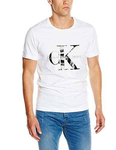 Calvin klein maglietta j3ij302251, uomo, bianco (bright white-pt 112), large