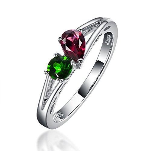 Hutang Jewelry   925  925 Rotonda Pera    Granato Cromo Diopside - Diopside Gemstone