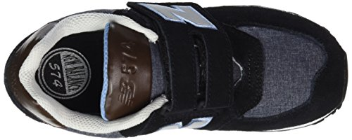 New Balance K_574V1, Baskets Basses Mixte Enfant Noir (Black/Grey/Brown)