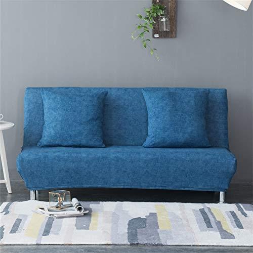 Copridivano senza braccioli, rivestimento in tessuto elasticizzato elastico antiscivolo e coprisedile, divano letto pieghevole dimensioni: 160-190 cm