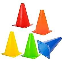 Alxcio Coni Stradali di Traffico Marker educativo dispositivo slalom  Football attrezzatura sportiva per bambini all  92184d44635a