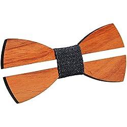LAAT Noeud Papillon En Bois Homme,Nouvelle Mode Nœud Papillon Pour Soirée Businesse Mariage Cérémonie Fête Costume Necktie 1Pcs
