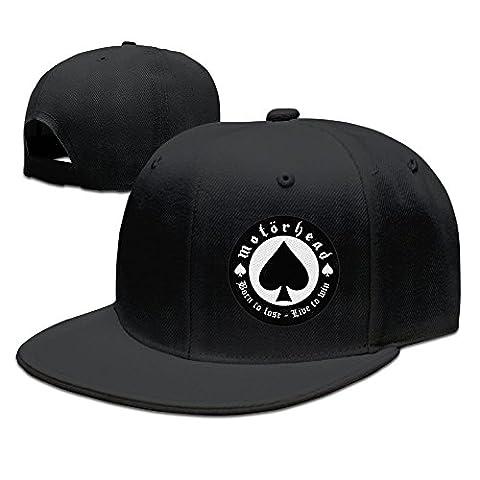 Feruch VOLTE Motörhead British Heavy Metal Rock Band Poker Flat Bill Snapback Adjustable Golf Caps Hats Navy Black