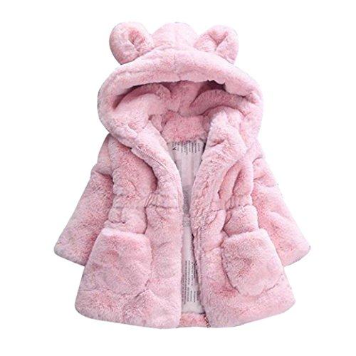 Kleinkind Süsse Kostüm Fuchs (Kinderbekleidung Dick Jacke Warm Kleider Hirolan Baby Winter Hoodie Coat Infant Lammfelljacke Girls Autumn Outerwear Babykleidung Anziehsachen (90,)