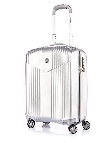 """LEICHTGEWICHT Reisekoffer Hartschale Handgepäck TSA integriert S-19""""(37L) von Verage V-LITE, 4 Rollen ABS/PC Trolley (Grau) mit Sicherhe..."""