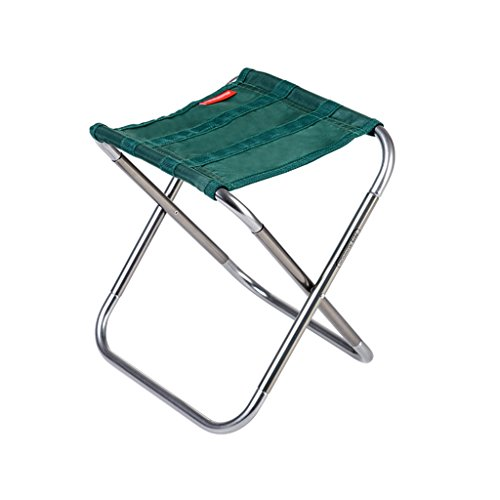 Qiangzi Strand Klappstuhl Tragbarer Klapphocker Aluminium Samll Camping Stuhl 25 * 22.4 * 26cm ( Farbe : Grün , größe : Pack of 1 )