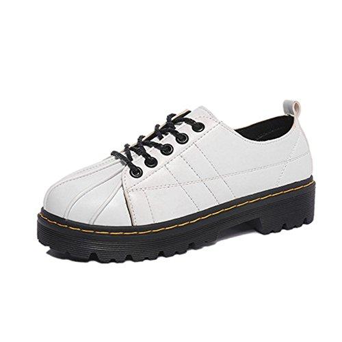printemps et automne chaussures de loisirs/Coque rétro-orteil laçage chaussures Martin/Chaussures de vent college/ chaussures de l'étudiante britannique A