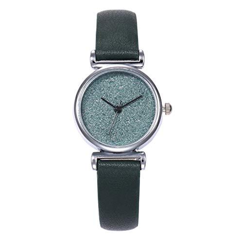 XZDCDJ Damen Armbanduhr Damenmode Star Scrub Foundation Kleines Zifferblatt Quarzuhr Damen Uhren Billig -