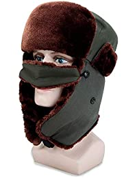MAFYU Trapper Hat para Hombres, Winter Warm Cotton Bomber Hat con Máscara, Mantener El