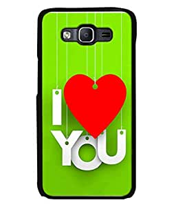 FUSON Designer Back Case Cover for Samsung Galaxy On7 Pro :: Samsung Galaxy On 7 Pro (2015) (Just Green Say Always I Love You Red Hearts Couples)