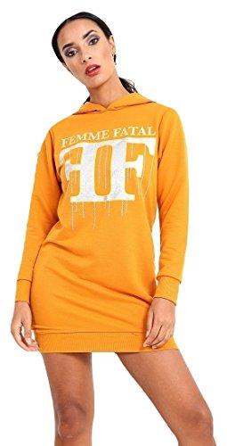Momo&Ayat Fashions -  Felpa  - Donna Femme Fatal- Mustard