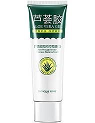 ROPALIA Gel Aloe Vera Pure Visage Hydratant Eclaircissant Anti-Acné Dissiper Cicatrice.