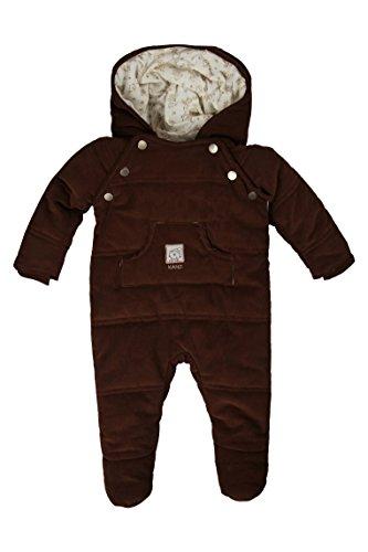 Kanz Unisex Baby Schneeanzug Overall m. Kapuze 0003528, Gr. 62, Braun (carafe|brown 6810)