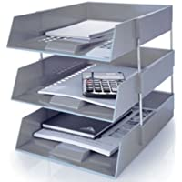 Generic NV _ 1001003572 _ yc-uk2 tidyy i including Risers nclud Lettera Vassoi Isers deposito scrivania NG de grigio in Out Ganis Organizer Tidy