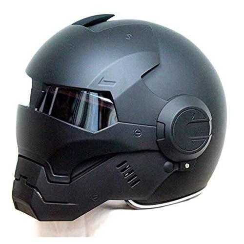 N.F. Personalità Casco Moto, Casco Viso Iron Man, Trasformatori Casco Harley Full Face Casco (M, L, XL),M