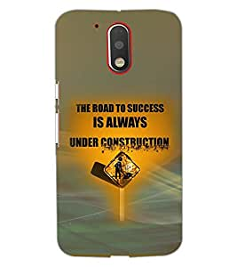 PrintDhaba QUOTE D-7044 Back Case Cover for MOTOROLA MOTO G4 (Multi-Coloured)