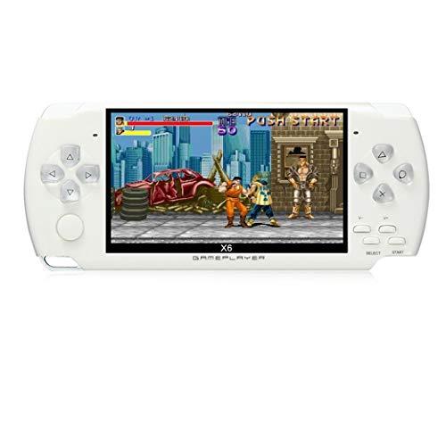 JXD 4,3 Zoll 8 GB Handheld-Spielekonsole eingebaute 1200 + echte Videospiele für Gba/GbC/SFC/FC/SMD-Spiele MP3/MP4/MP5/DV/DC Funktion (weiß) (Handheld Spiele Karte Elektronische)