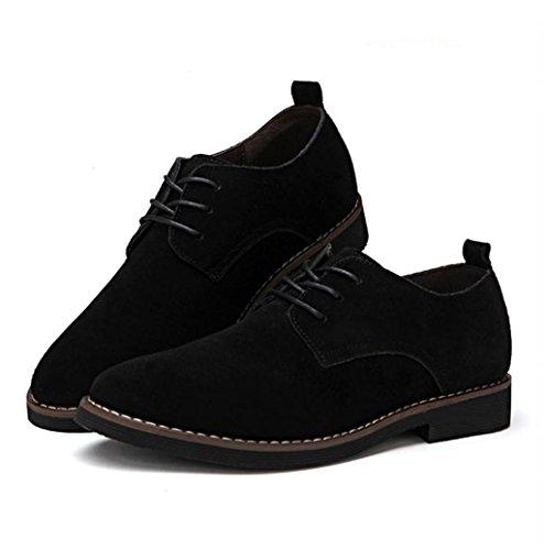 Heart&M taglio maschile casual grandi dimensioni basso glassato scarpe in pelle scamosciata Black