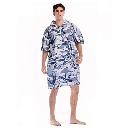 Chengzuoqing Handtuch Poncho für Damen Surf Poncho Handtuch Schnell trocknend Bademantel mit Kapuze Surfing Tauchen Poncho Surf-Tauchanzug Ya Gray Bamboo