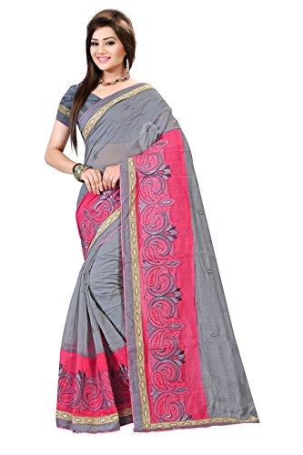 Indian Fashionista Cotton Silk Saree (Prjinal11032410_Turquoise)