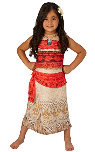 Rubie' s ufficiale disney moana childs deluxe costume medium (5 – 6 anni)