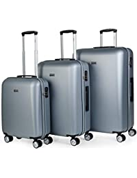 4a6541023 ITACA - Maletas de Viaje Rígidas 4 Ruedas Trolley ABS. Resistentes y Ligeras.  Mango Asas Candado. Pequeña Cabina Low Cost Ryanair,…