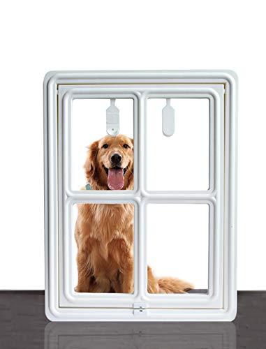 SUCCESS Hunde-Tür für Schiebetür, magnetisch, automatische Verriegelung, Haustier Tür, Hund für Hunde, Welpen, Katzen, M: 14.96